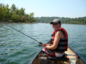 Canoe Fishing Lake Taneycomo